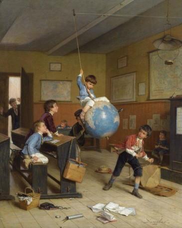 """André-Henry Dargelas (1828-1906) - """"Le Tour de Monde"""